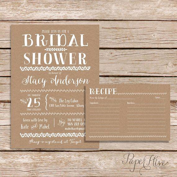Recipe Shower Invitation Wording Inspirational 1000 Ideas About Bridal Shower S On Pinterest