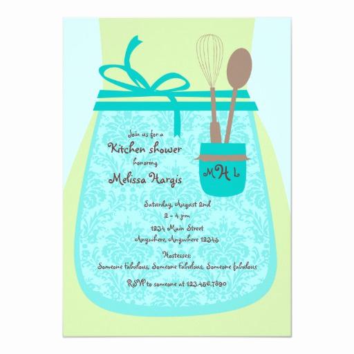 Recipe Shower Invitation Wording New Recipe Kitchen Bridal Shower Invitation