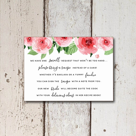 Recipe Shower Invitation Wording Unique Bridal Shower Invitation Printable Recipe Cards Printable