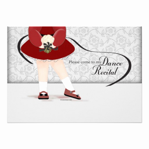 "Recital Invitation Template Free Awesome Dance Recital Invitation 5"" X 7"" Invitation Card"
