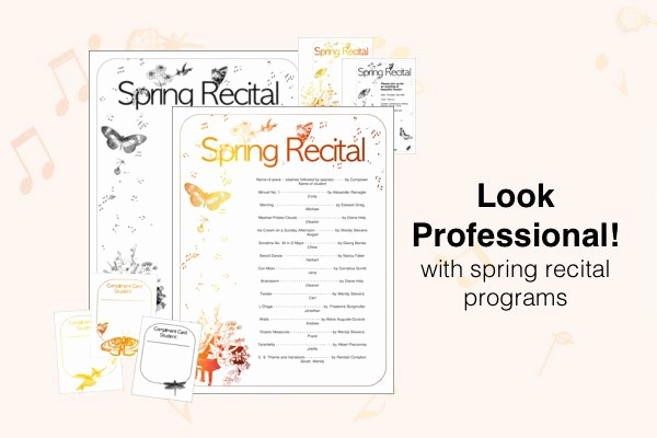 Recital Invitation Template Free Awesome Free Recital Templates Look Sharp Posecreate