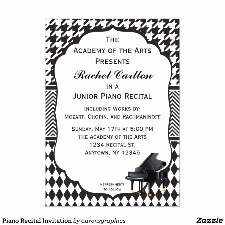 Recital Invitation Template Free Awesome Piano Recital Invitation