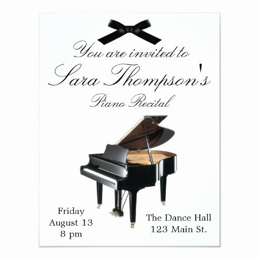 Recital Invitation Template Free Beautiful Piano Recital Invitation