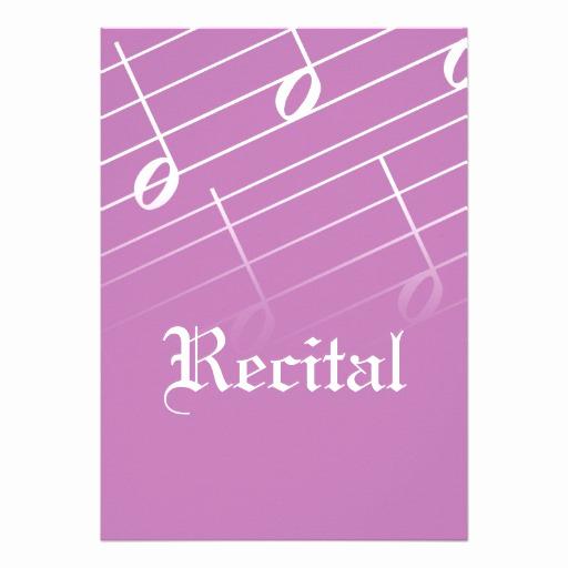 """Recital Invitation Template Free Elegant Music Recital Invitation 5"""" X 7"""" Invitation Card"""