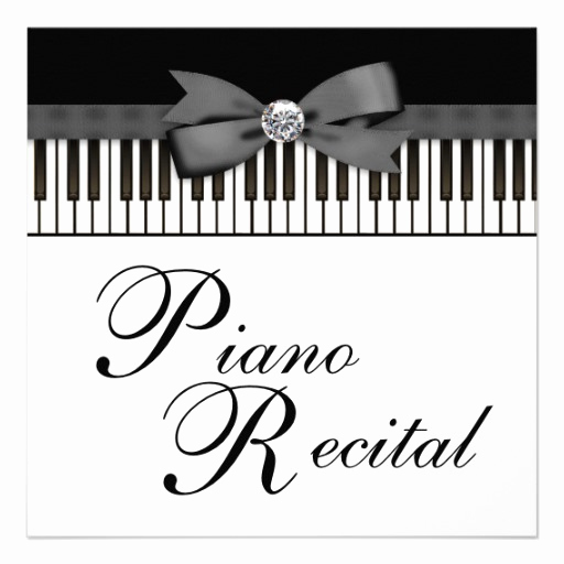 Recital Invitation Template Free Inspirational Piano Recital Gifts T Shirts Art Posters & Other Gift