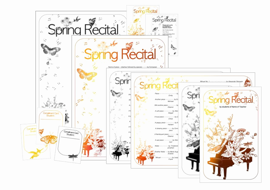 Recital Invitation Template Free New New Spring Recital Template Edit A Doc Pages or Pdf