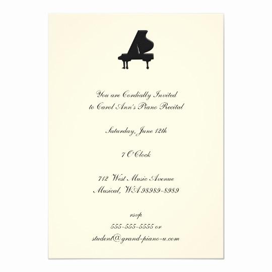 Recital Invitation Template Free Unique Piano Recital Invitation