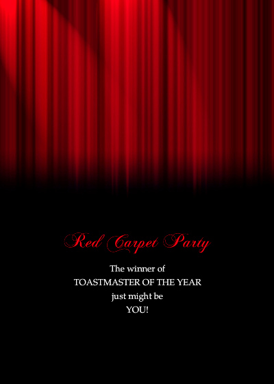 Red Carpet Invitation Template Awesome Red Carpet Party & Awards Celebration Line Invitations