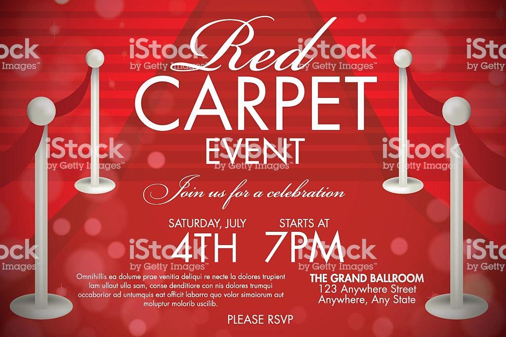 Red Carpet Invitation Template Best Of Vintage Style Red Carpet event Invitation Template Red