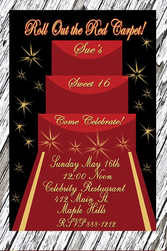 Red Carpet Invitation Template Free Inspirational Red Carpet Sweet Sixteen Ideas
