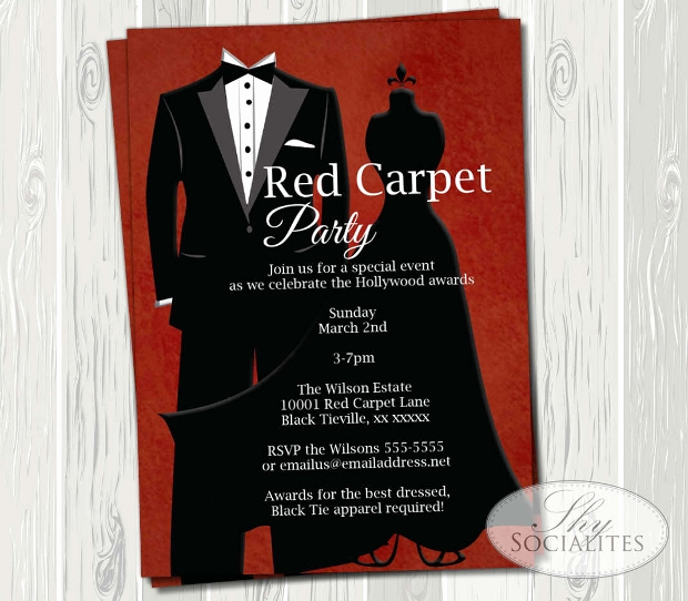 Red Carpet Invitation Template Free Lovely 17 Award Ceremony Invitation Designs Psd Ai Vector