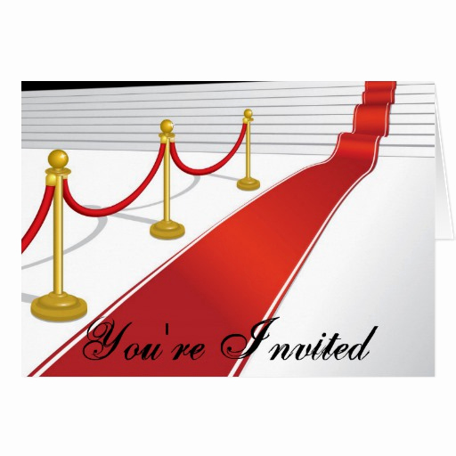 Red Carpet Invitation Template Free Lovely Red Carpet Invitation Card