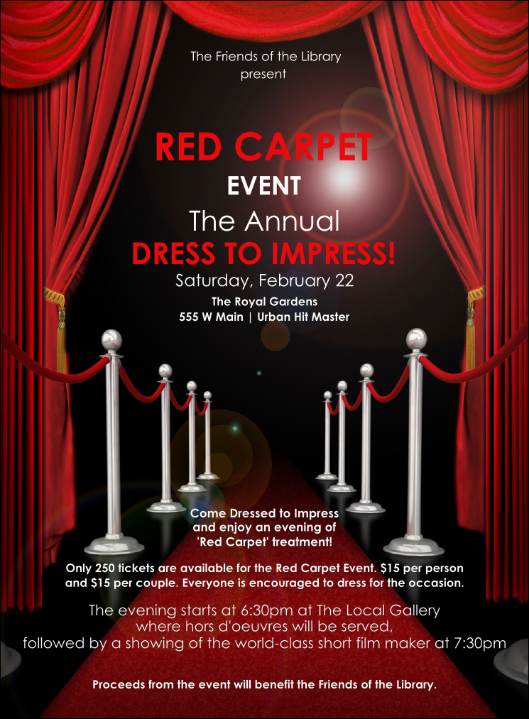 Red Carpet Invitation Template Free Lovely Red Carpet Invitation