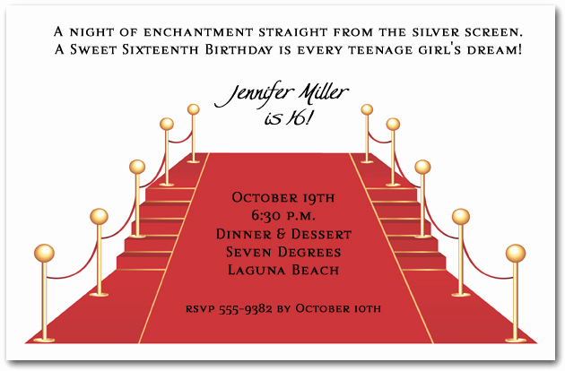 Red Carpet Invitation Template Free New Red Carpet and Stairs Party Invitations
