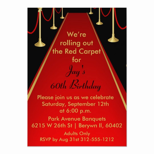 Red Carpet Invitation Template Free New Red Carpet Invitation Hollywood theme Sweet 16