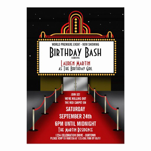 Red Carpet Invitation Template Free New theater Invitation Templates