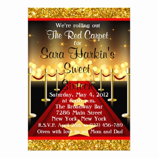 Red Carpet Invitation Template Free Unique Free Royal Red Carpet Birthday Party Invitations Template