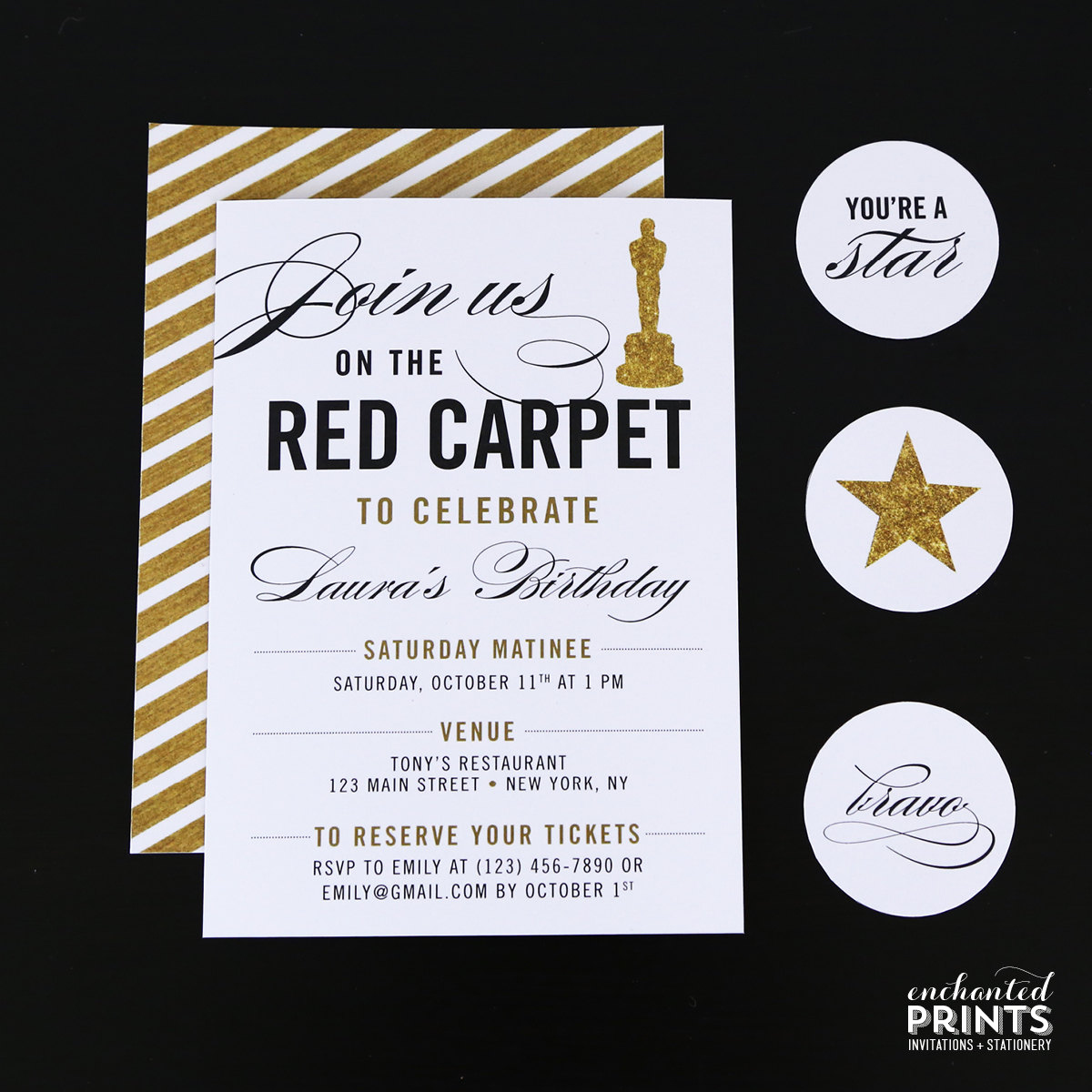 Red Carpet Invitation Template Free Unique Red Carpet Birthday Party Invitation Awards by Enchantedprints