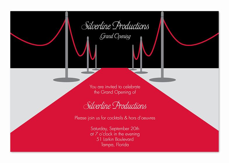 Red Carpet Invitation Template Fresh Red Carpet Silver Corporate Invitations by Invitation