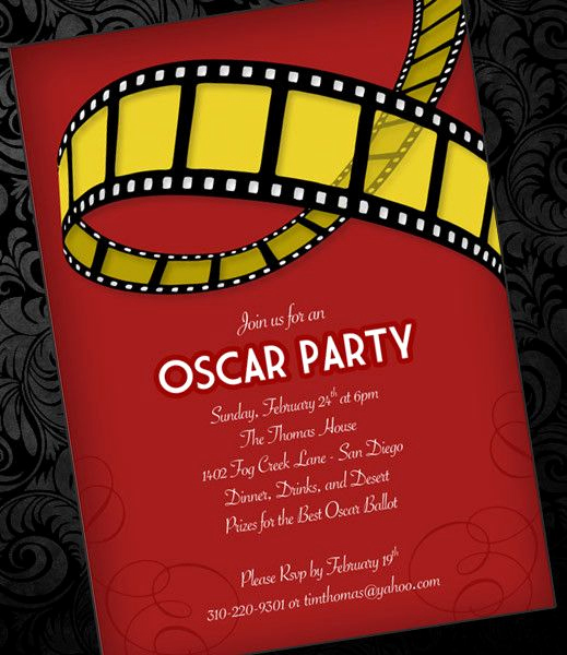 Red Carpet Invitation Template Inspirational Diy Oscar Party Invitation Template From Downloadandprint