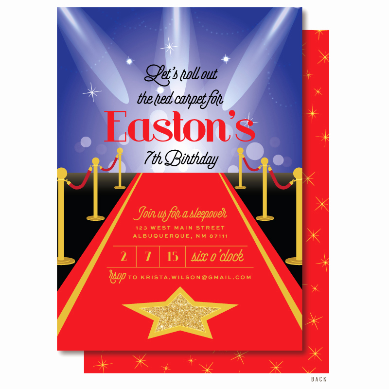 Red Carpet Invitation Template Lovely Red Carpet Invitations