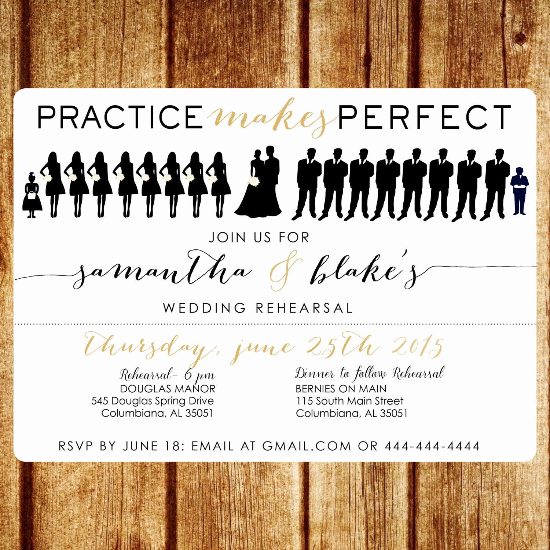 Rehearsal Dinner Invitation Ideas Beautiful Silhouette Rehearsal Dinner Invitation Printable Wedding