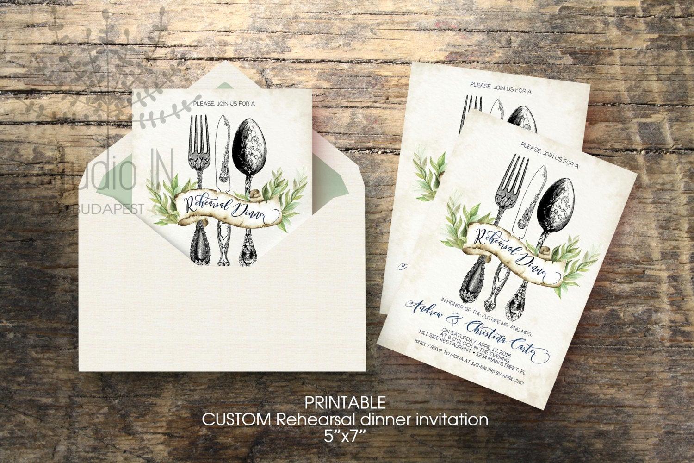 Rehearsal Dinner Invitation Ideas Best Of Wedding Rehearsal Dinner Invitation Custom Printable 5x7