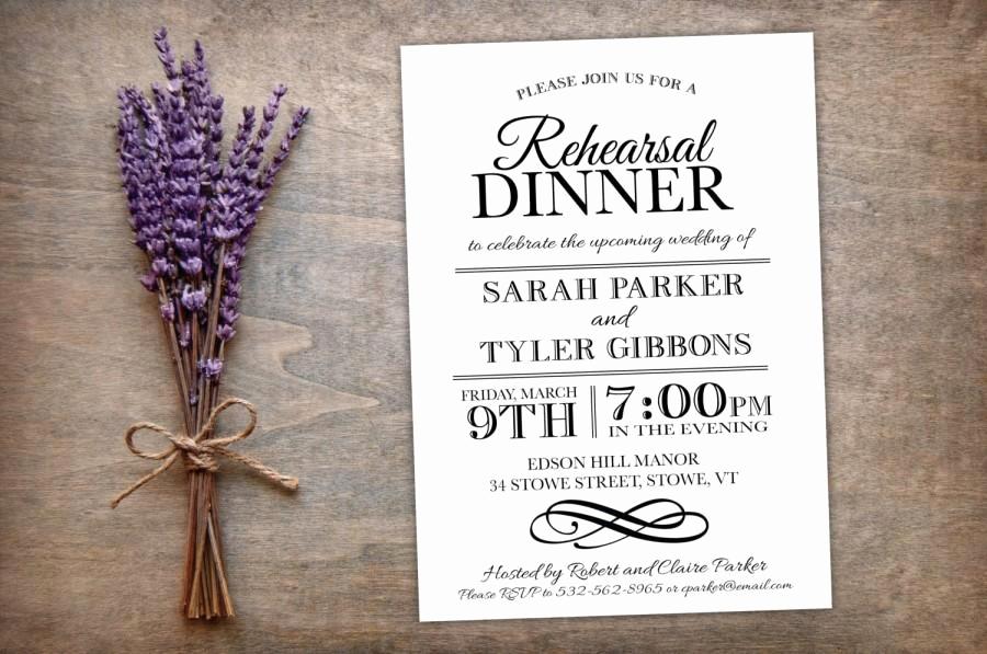 Rehearsal Dinner Invitation Ideas Fresh Printable Rehearsal Dinner Invitation Elegant Modern