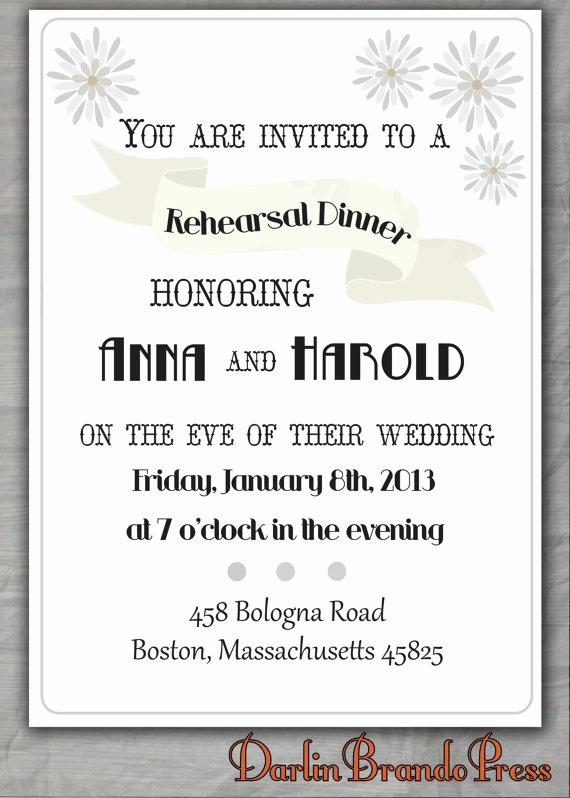 Rehearsal Dinner Invitation Ideas Inspirational Ribbon Rehearsal Dinner Invitation Paper