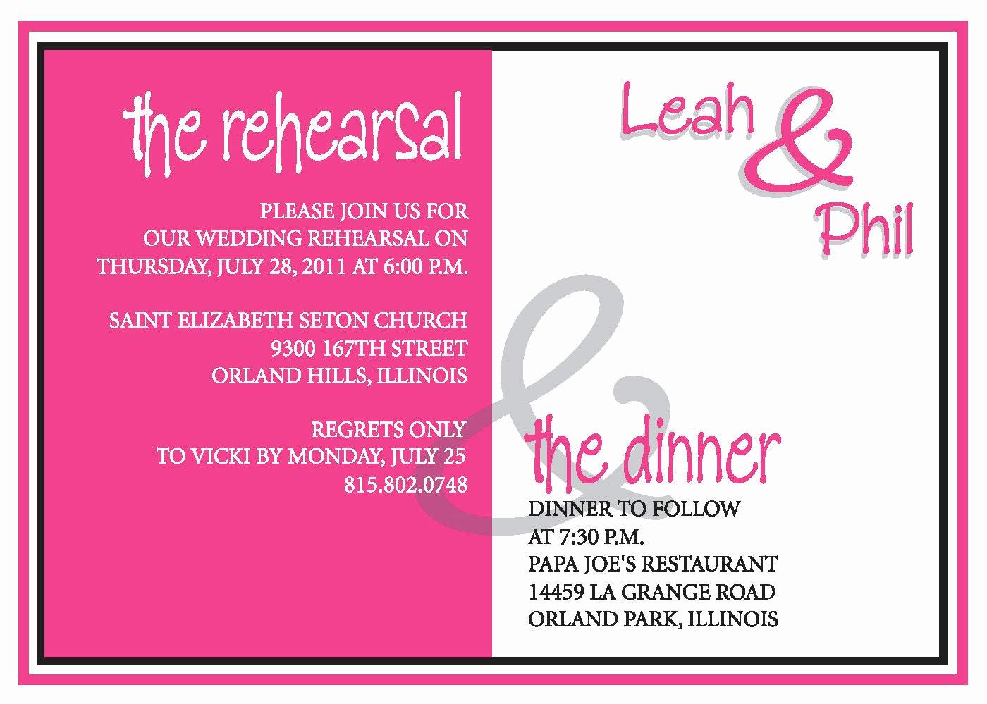 Rehearsal Dinner Invitation Ideas Luxury Rehearsal Dinner Invite Custom Colors