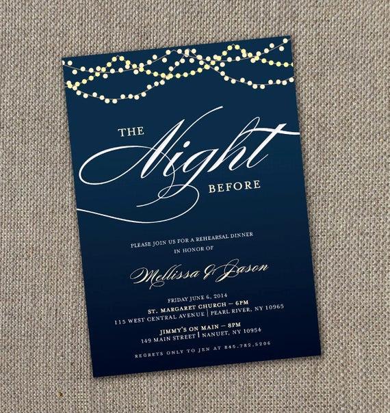 Rehearsal Dinner Invitation Ideas Unique Starry Night Rehearsal Dinner Invitation 5 X 7 by