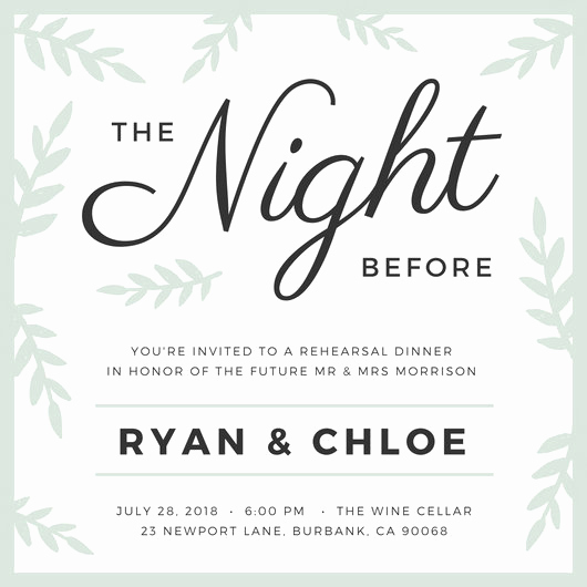 Rehearsal Dinner Invitation Template Awesome Customize 411 Rehearsal Dinner Invitation Templates