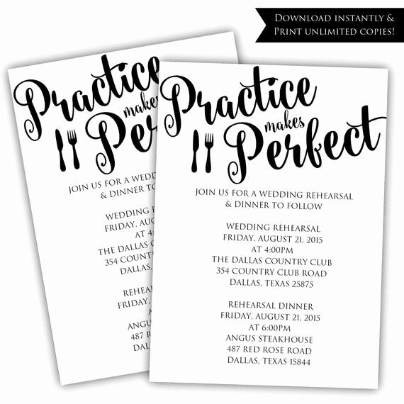 Rehearsal Dinner Invitation Template Beautiful Diy Rehearsal Dinner Invitation Printable by