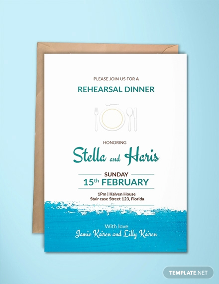Rehearsal Dinner Invitation Template Elegant Free Rehearsal Dinner Party Invitation Template Download