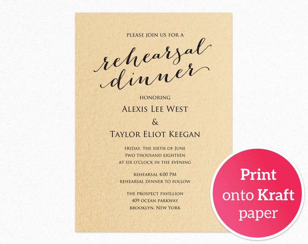 Rehearsal Dinner Invitation Template Elegant Rehearsal Dinner Invitation Template · Wedding Templates