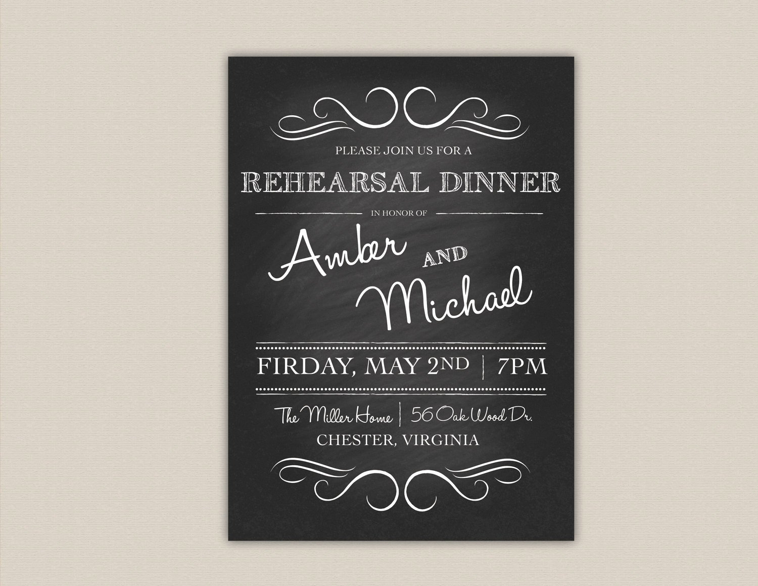 Rehearsal Dinner Invitation Template Lovely Rehearsal Dinner Invitation Template