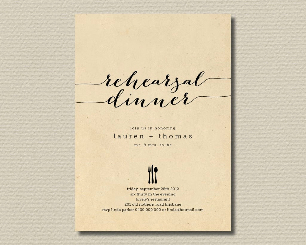 Rehearsal Dinner Invitation Template Lovely Rehearsal Dinner Invite