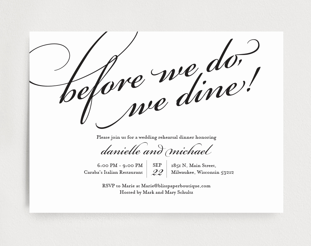 Rehearsal Dinner Invitation Template Lovely Wedding Rehearsal Dinner Invitation Editable Template before