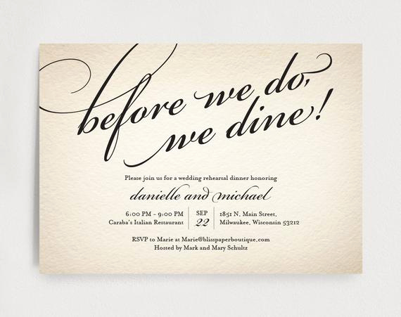 Rehearsal Dinner Invitation Template Luxury Wedding Rehearsal Dinner Invitation Editable Template before