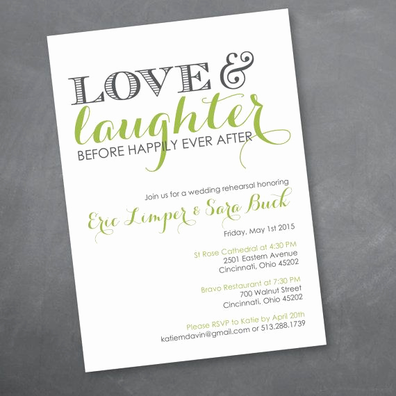 Rehearsal Dinner Invitation Template New Love and Laughter Rehearsal Dinner Invitation Digital