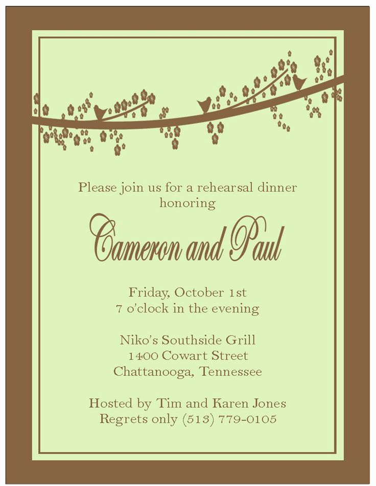 Rehearsal Dinner Invitation Template Unique 9 Best southern Invitations Images On Pinterest