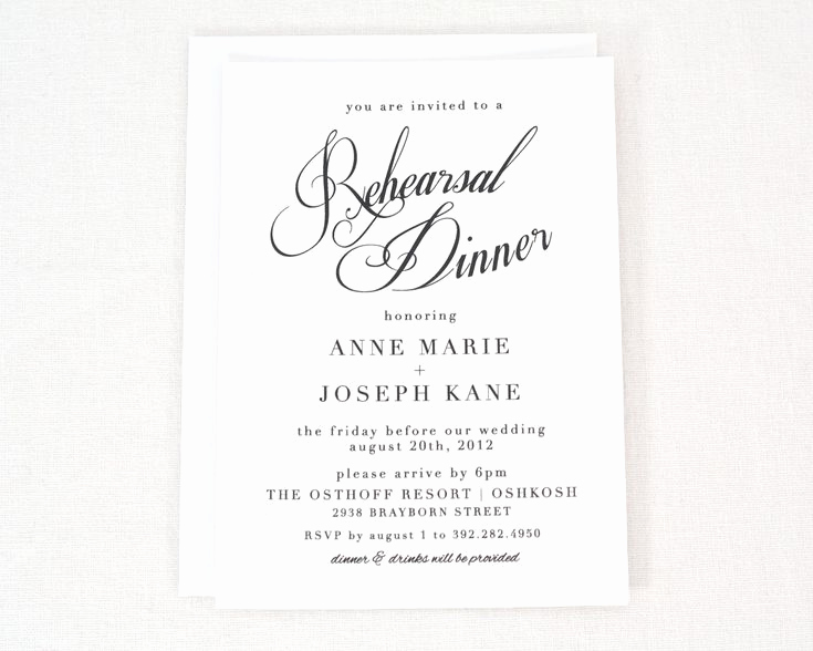 Rehearsal Dinner Invitation Template Word Lovely Best 25 Rehearsal Dinner Invitations Ideas On Pinterest