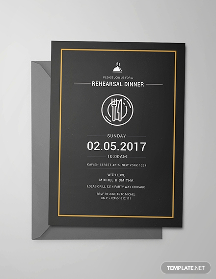 Rehearsal Dinner Invitation Template Word Luxury Free Rehearsal Dinner Party Invitation Template Download