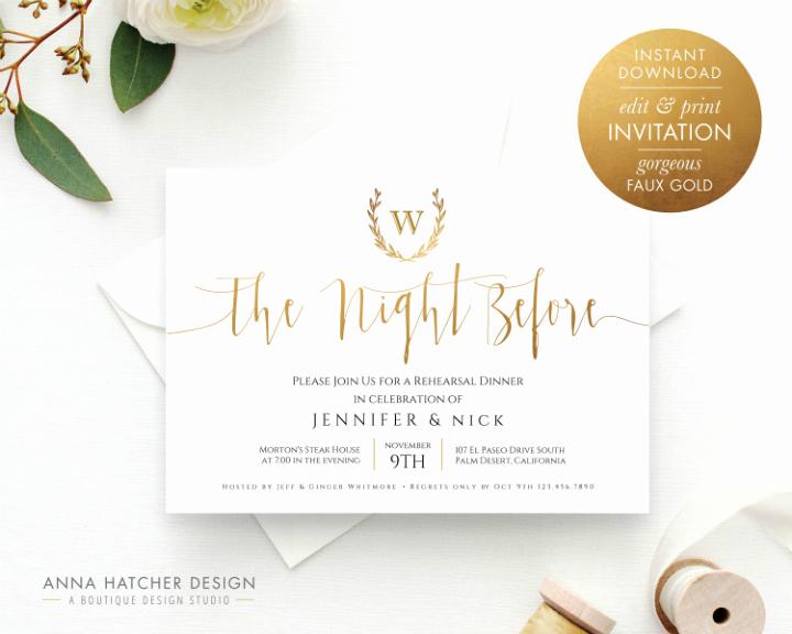 Rehearsal Dinner Invitation Template Word Unique 14 Wedding Rehearsal Invitation Designs & Templates Psd