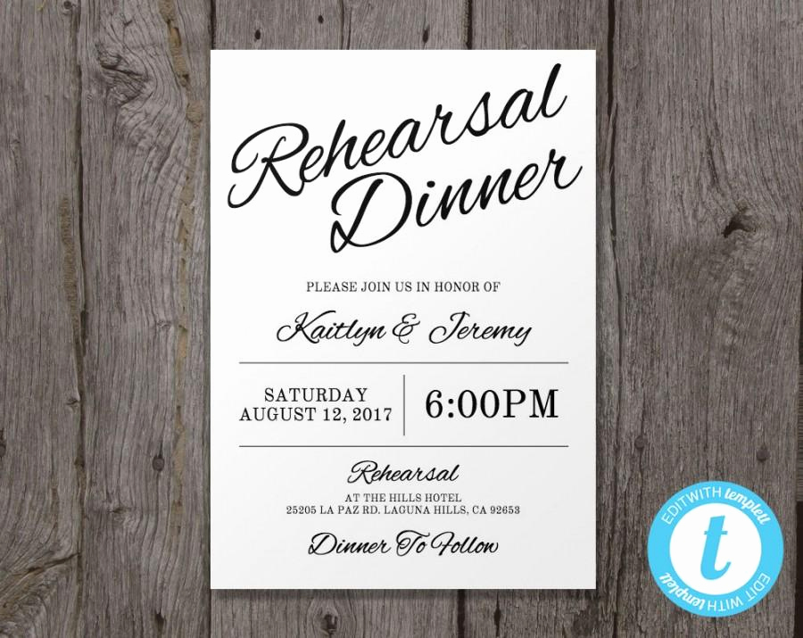 Rehearsal Dinner Invitation Template Word Unique Printable Wedding Rehearsal Dinner Invitation Template