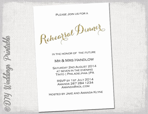 Rehearsal Dinner Invitation Template Word Unique Rehearsal Dinner Invitation Template Gold Glitter