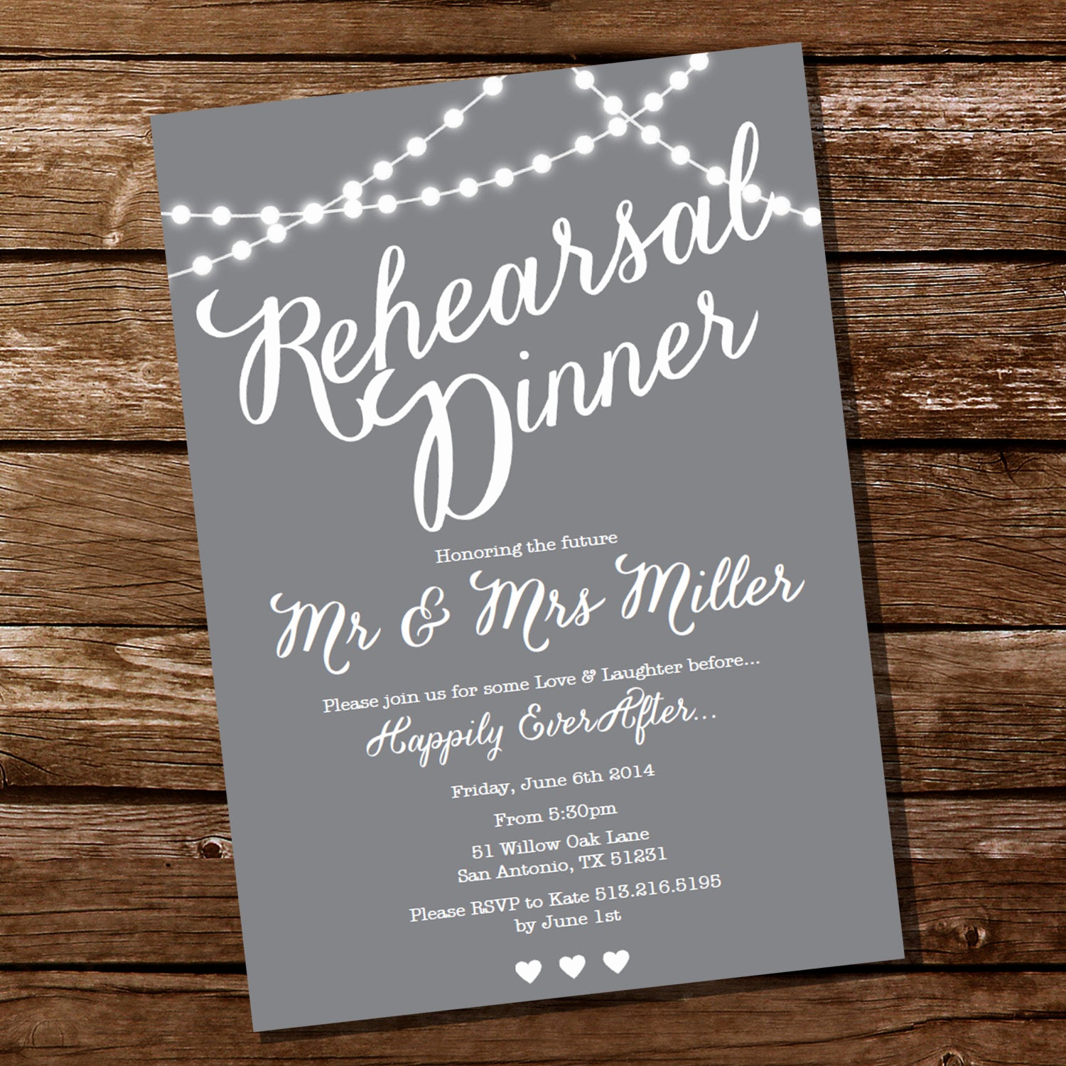 Rehearsal Dinner Invitation Wording Awesome Gray Rehearsal Dinner Invitation Instant Download and Edit