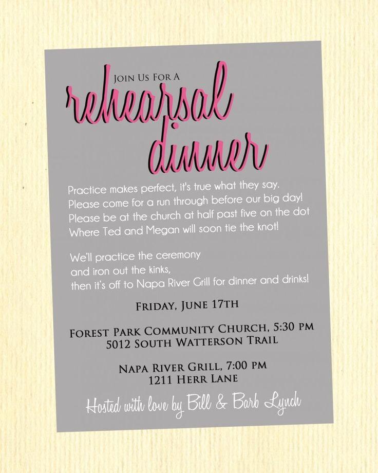 Rehearsal Dinner Invitation Wording Elegant Best 25 Dinner Invitation Wording Ideas On Pinterest