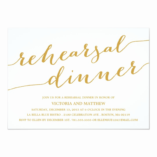 modern calligraphy rehearsal dinner invitation