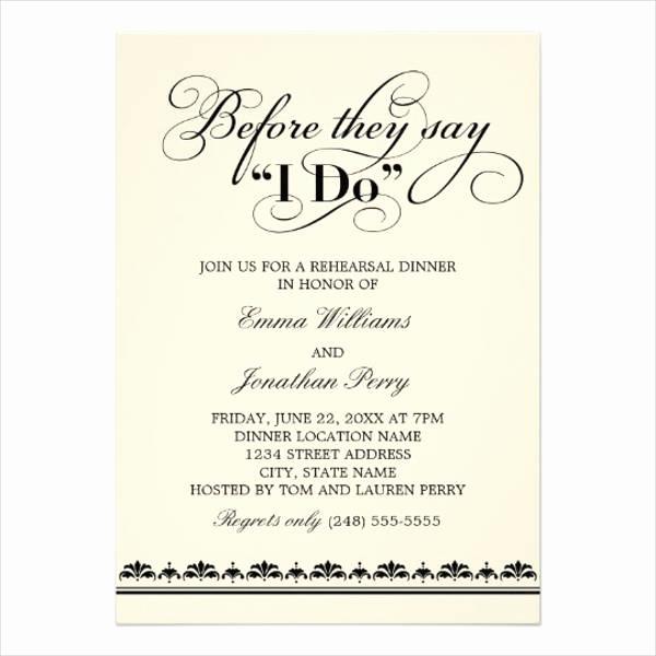 Rehearsal Dinner Invitation Wording New 40 Wedding Invitation formats Psd Ai Vector Eps